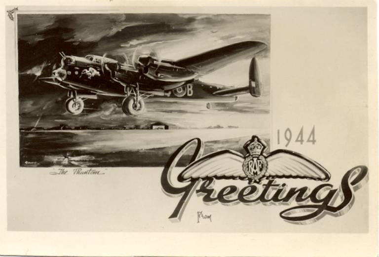 vintage christmas cards - Airplane Christmas Cards